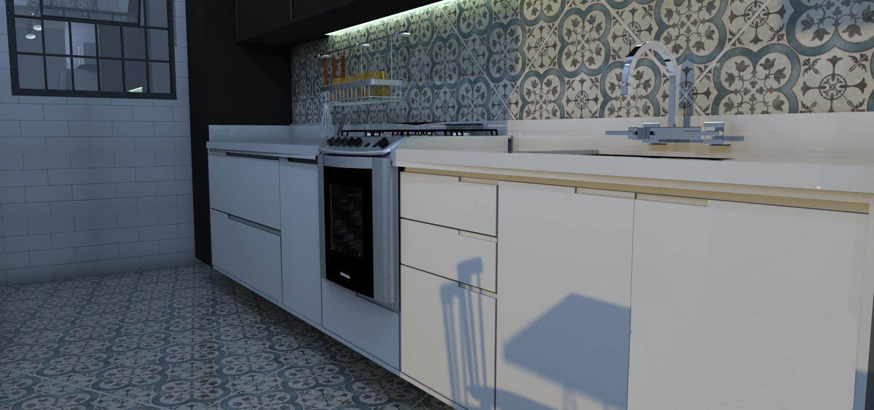 cozinha estilo industrial Designer de interiores em Curitiba Murilo #527967 1712 804