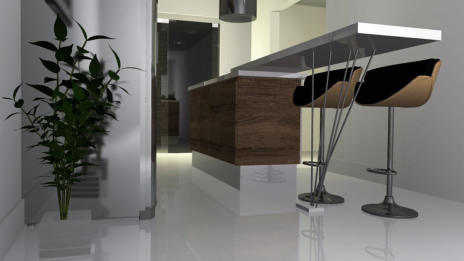 para banquetas e ilha para o fogão projeto por Murilo Zad designer de #5E4E3E 1569 883