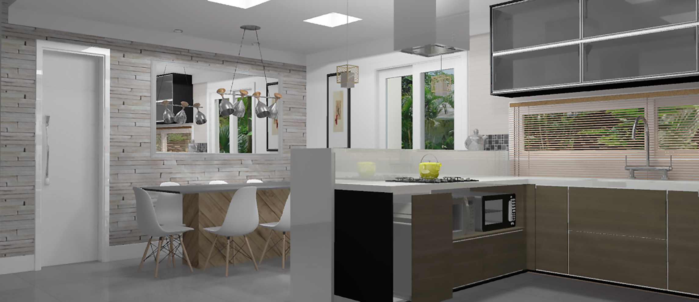 projetos de cozinhas cozinha moderna cozinha americana pequena cozinha  #4B603D 2291 991