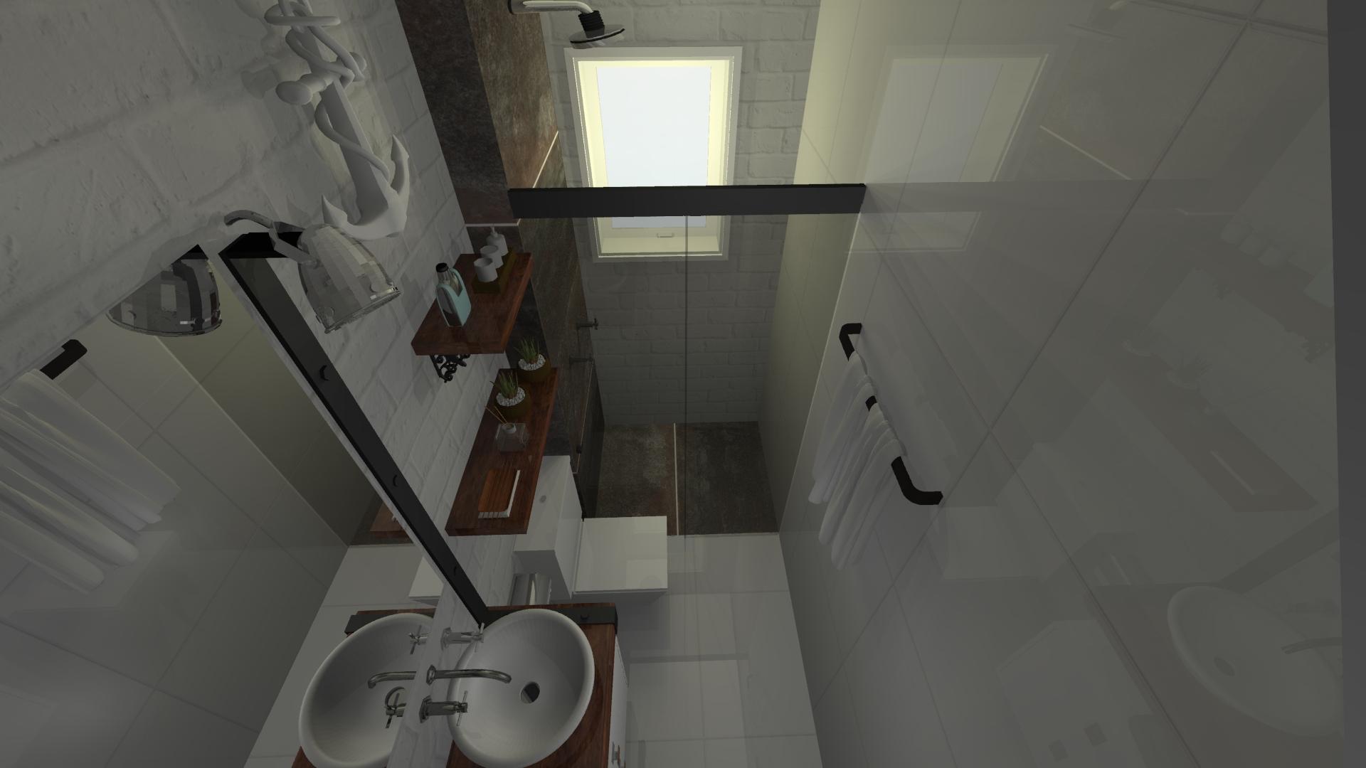 Banheiro da Suíte, industrial – Estúdio Murilo Zadulski Interiores – Design  -> Banheiro Decorado Quanto Custa