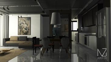 Designer de interiores em Curitiba - Salas de estar e Jantar por Murilo Zad