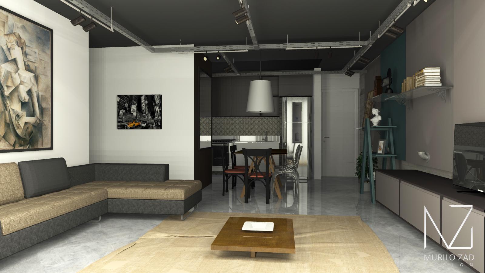 #604F33 de jantar e estar no estilo escandinavo por Murilo Zad designer de  1600x900 px Projeto De Cozinha Industrial Hotel_4665 Imagens