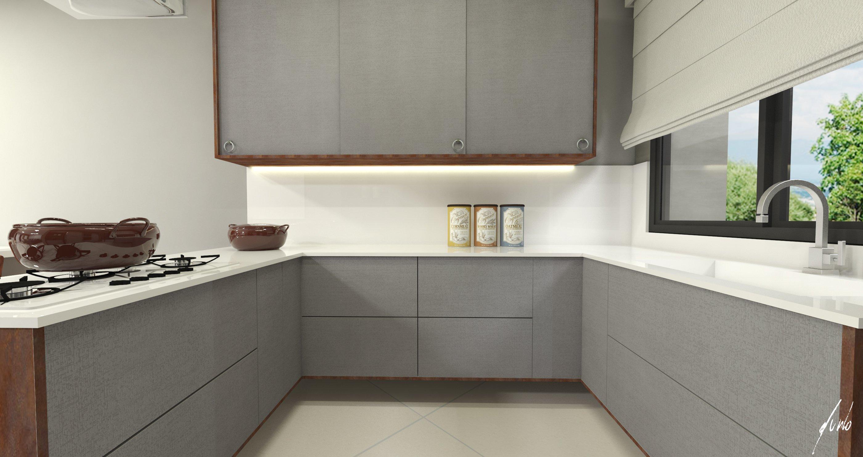 Projeto De Cozinha Com Ilha Modelo De Cozinha Clean Desenvolvido