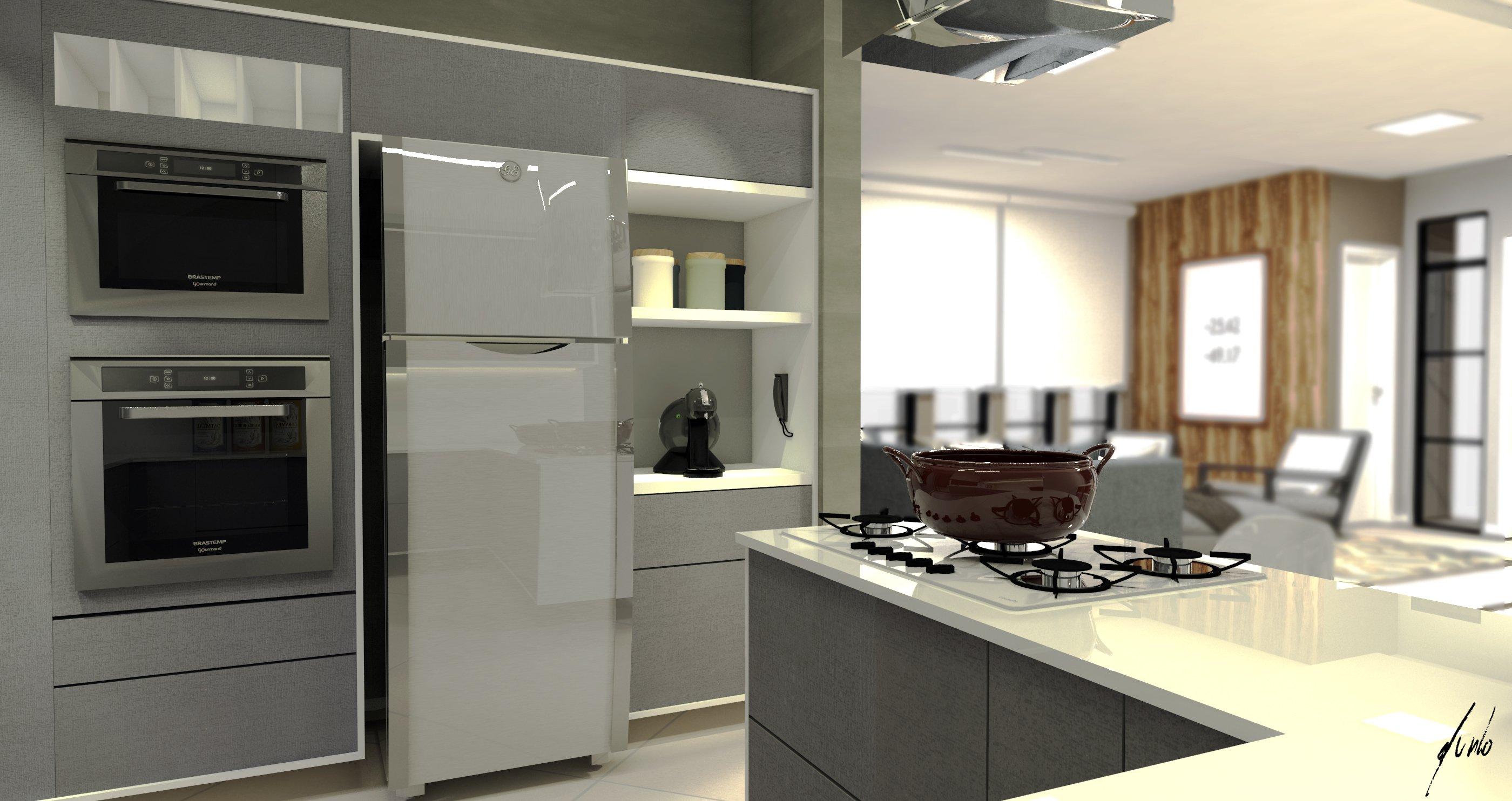 Modelo De Cozinha Clean Desenvolvido Por Est Dio Murilo Zadulski