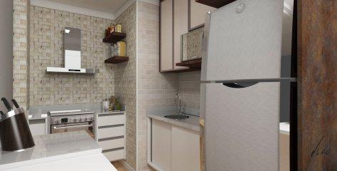 cozinha moderna apartamento pequeno