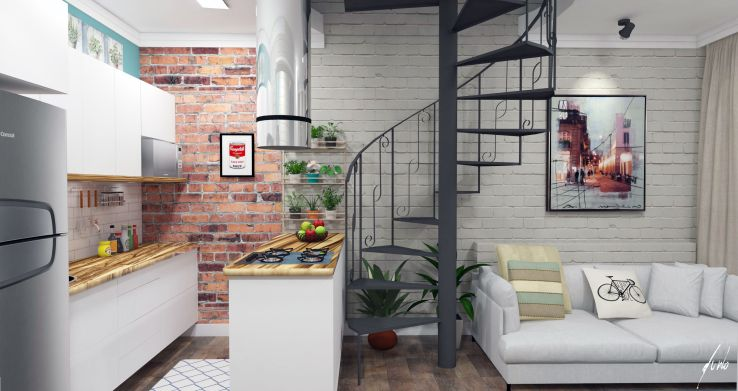 cozinha-da-primeira-casa-do-jovem-casal-curitibano-tijolos-aparentes-tampos-de-madeira-moveis-brancos-escada-preto-fosco-estilo-e-conforto-projeto-e-execucao-murilo-zadul-img07