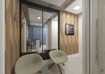 Recepção sala comercial no bairro são francisco em curitiba pr projeto de design e decoracao por murilo zadulski designer de interiores 02