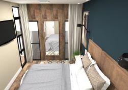 Projeto de design e decoração Suite do casal - Sobrado em pinhais - projeto e imagens por murilo zadulski designer de interiores em curitiba 0106 Empresa de design de interiores em curitiba 96