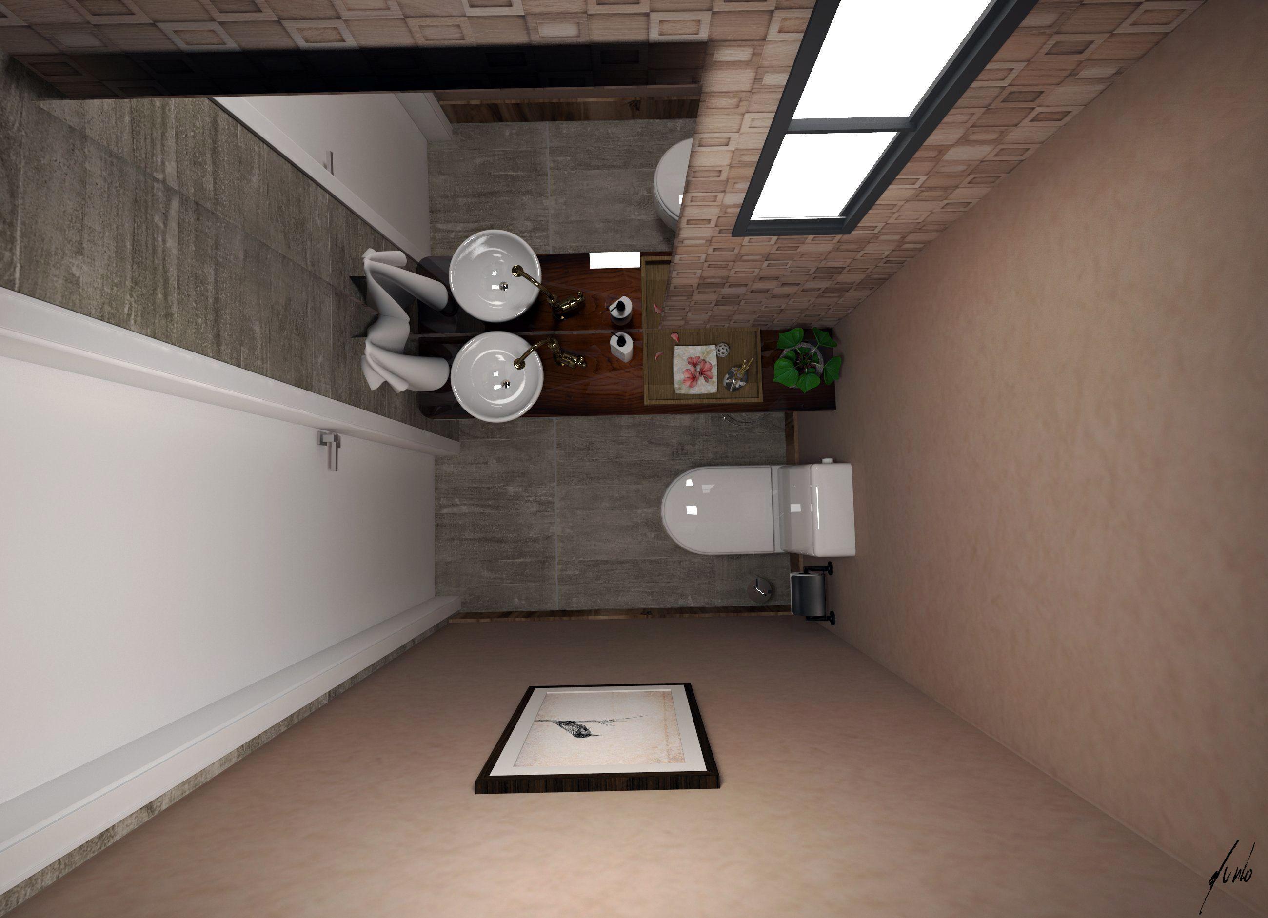 projeto de lavabo para ambiente comercial