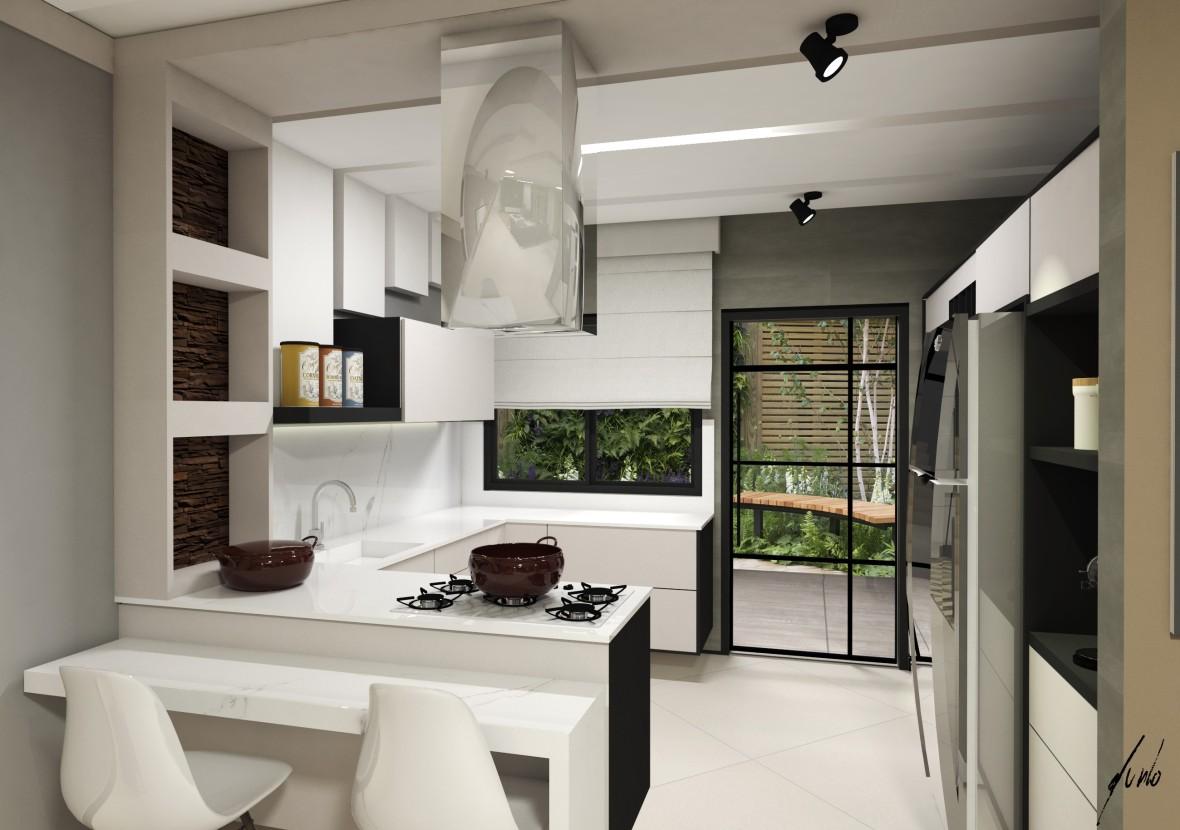 Projeto Para O T Rreo Com Os Ambientes Integrados Para A Casa Do