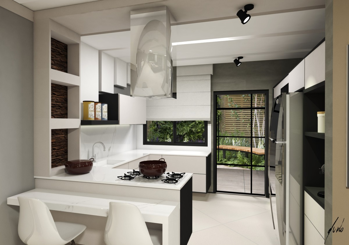 Cozinhas murilo zadulski interiores designer de for Casas pequenas modernas interiores