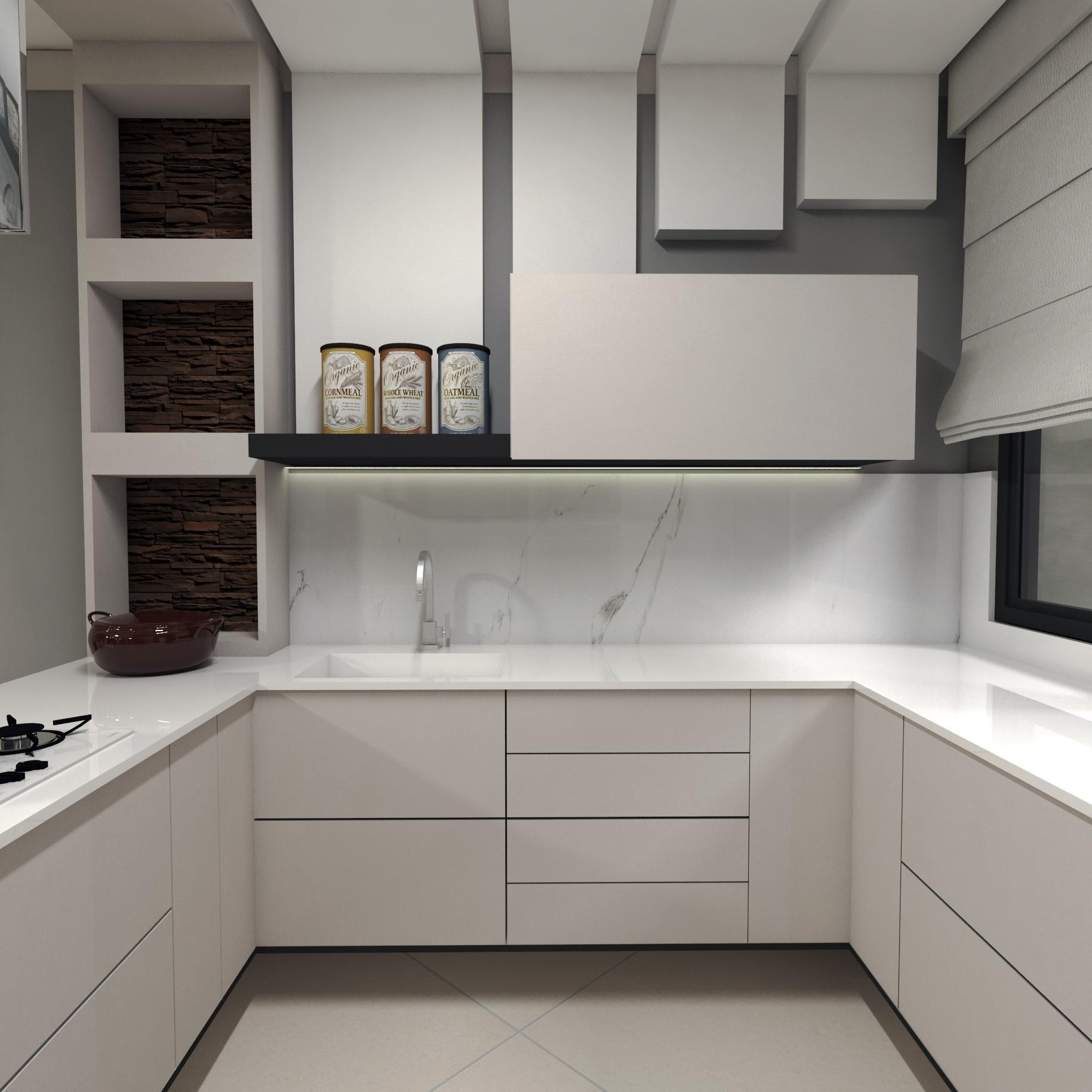 Projeto para o térreo com os ambientes integrados para a casa do casal Priscila e Ricardo em Pinhais PR Projeto e imagens por Estúdio Murilo Zadulski design de interiores img11
