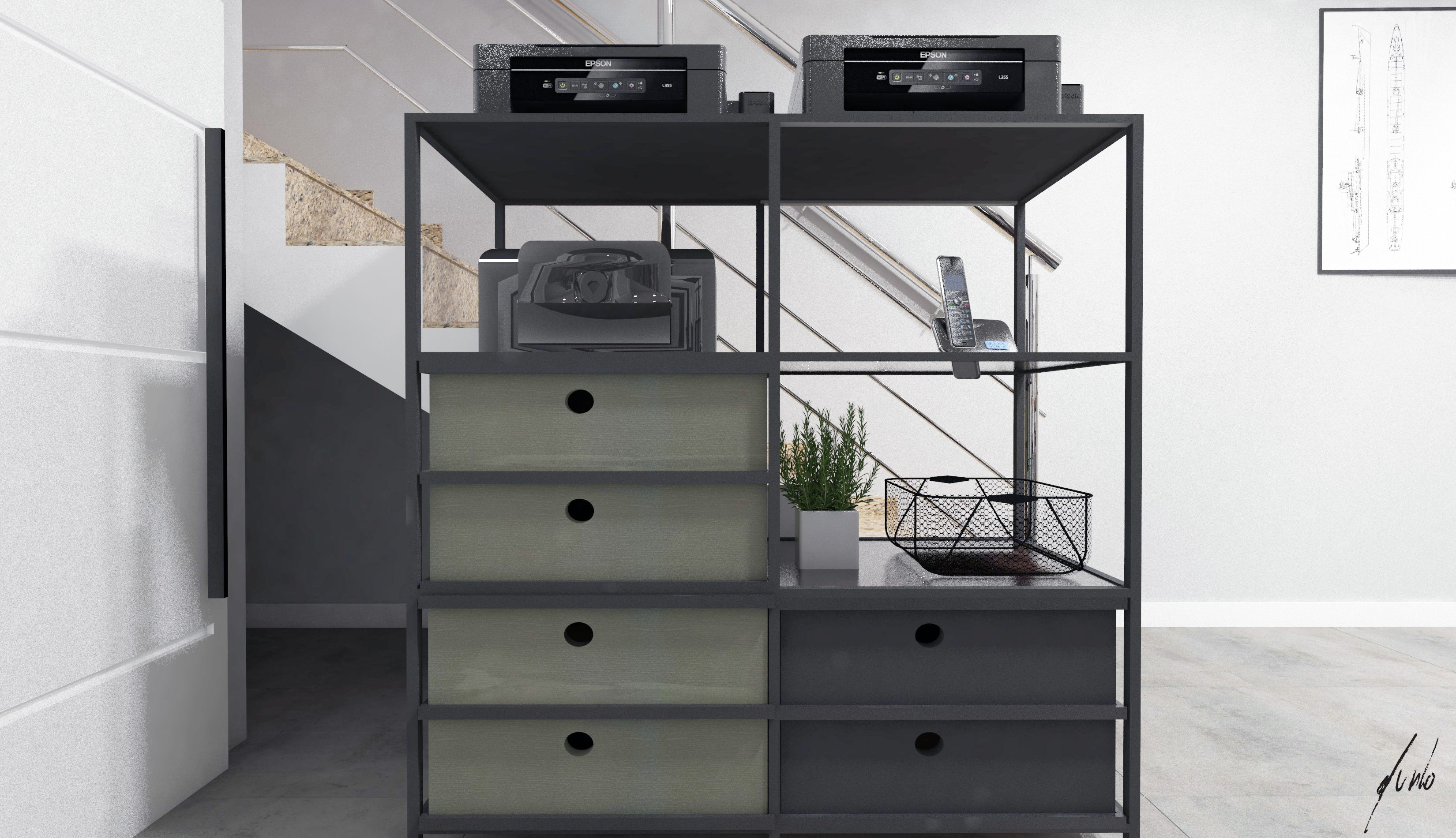 Projeto de design e decoracao para escritorio um escritorio muito moderno em paranagua - madeiras, ferro preto, plantas, cimento queimado, quadros - escritorios modernos 019