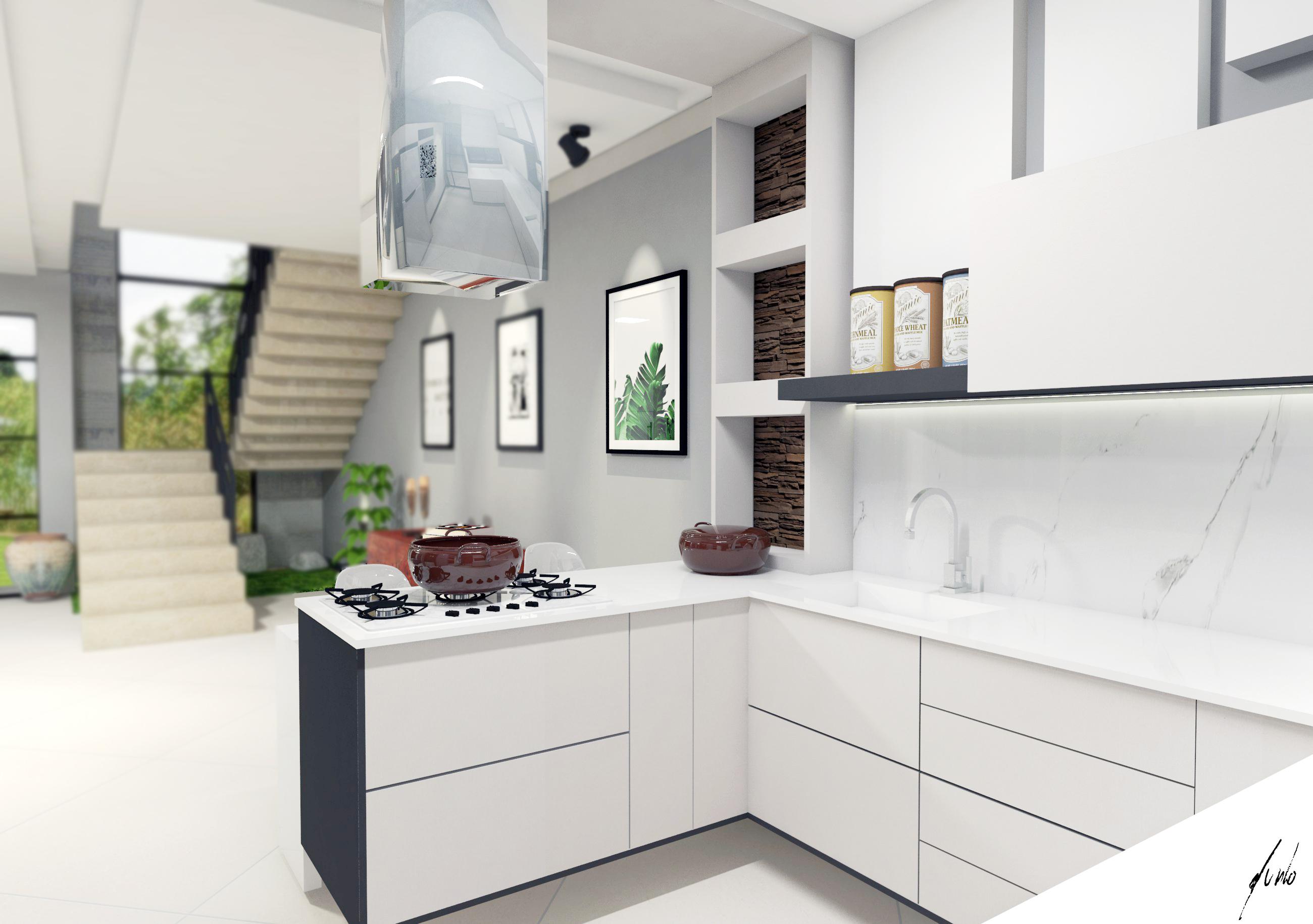 Cozinha com ilha conjugada com sala de jantar estilo for Furnish decorador de interiores