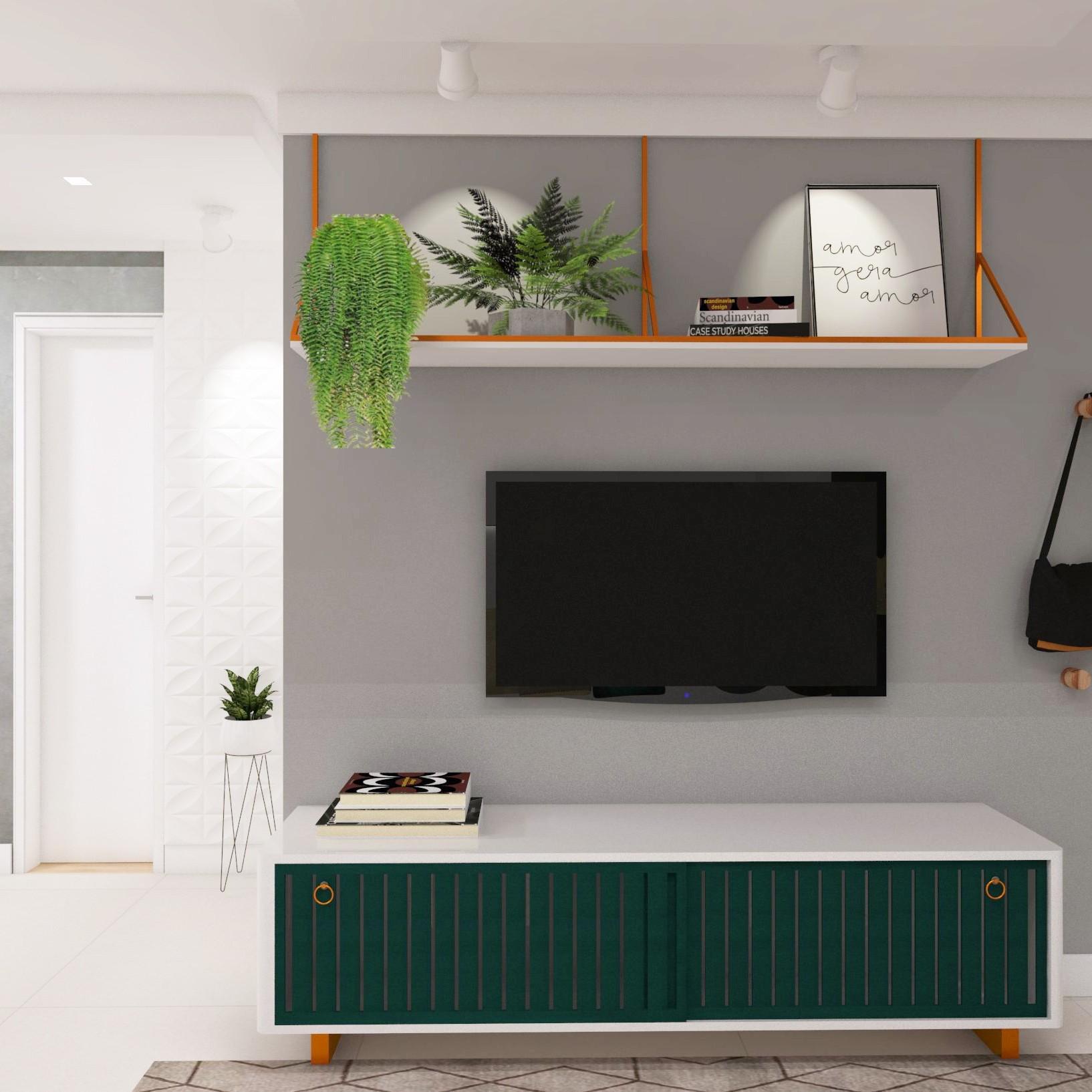 Sala de estar contemporânea desenvolvida pelo estúdio Murilo Zadulski Interiores - Designer de interiores em Curitiba - Projetos e consultoria img01