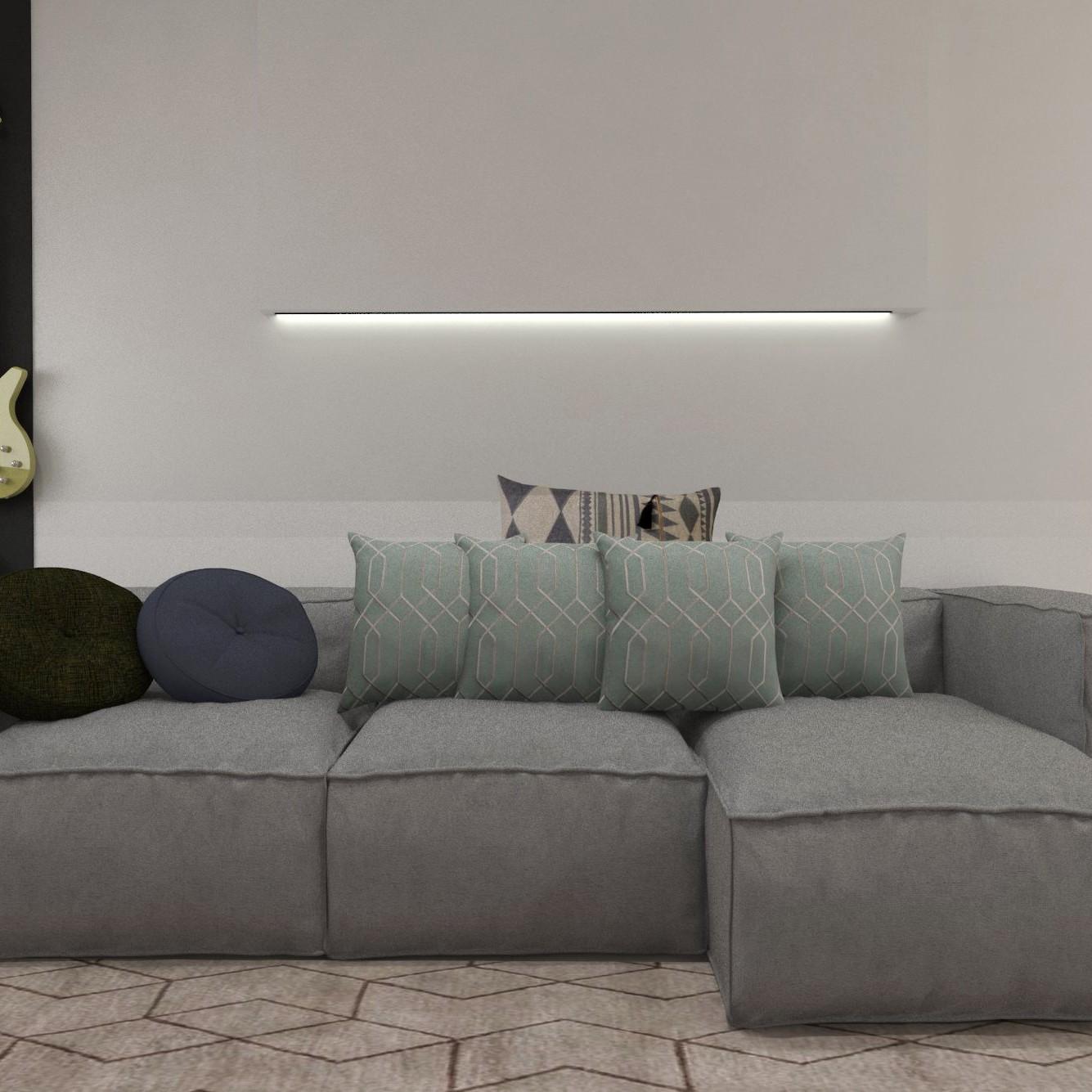 Sala de estar contemporânea desenvolvida pelo estúdio Murilo Zadulski Interiores - Designer de interiores em Curitiba - Projetos e consultoria img0102
