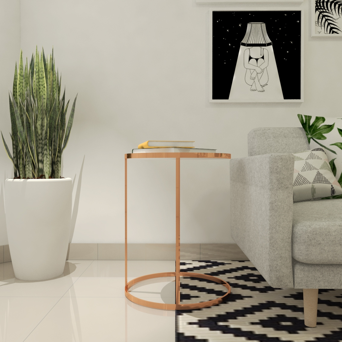 Sala de estar moderna - Projeto por Estúdio Murilo Zadulski Interiores - 01
