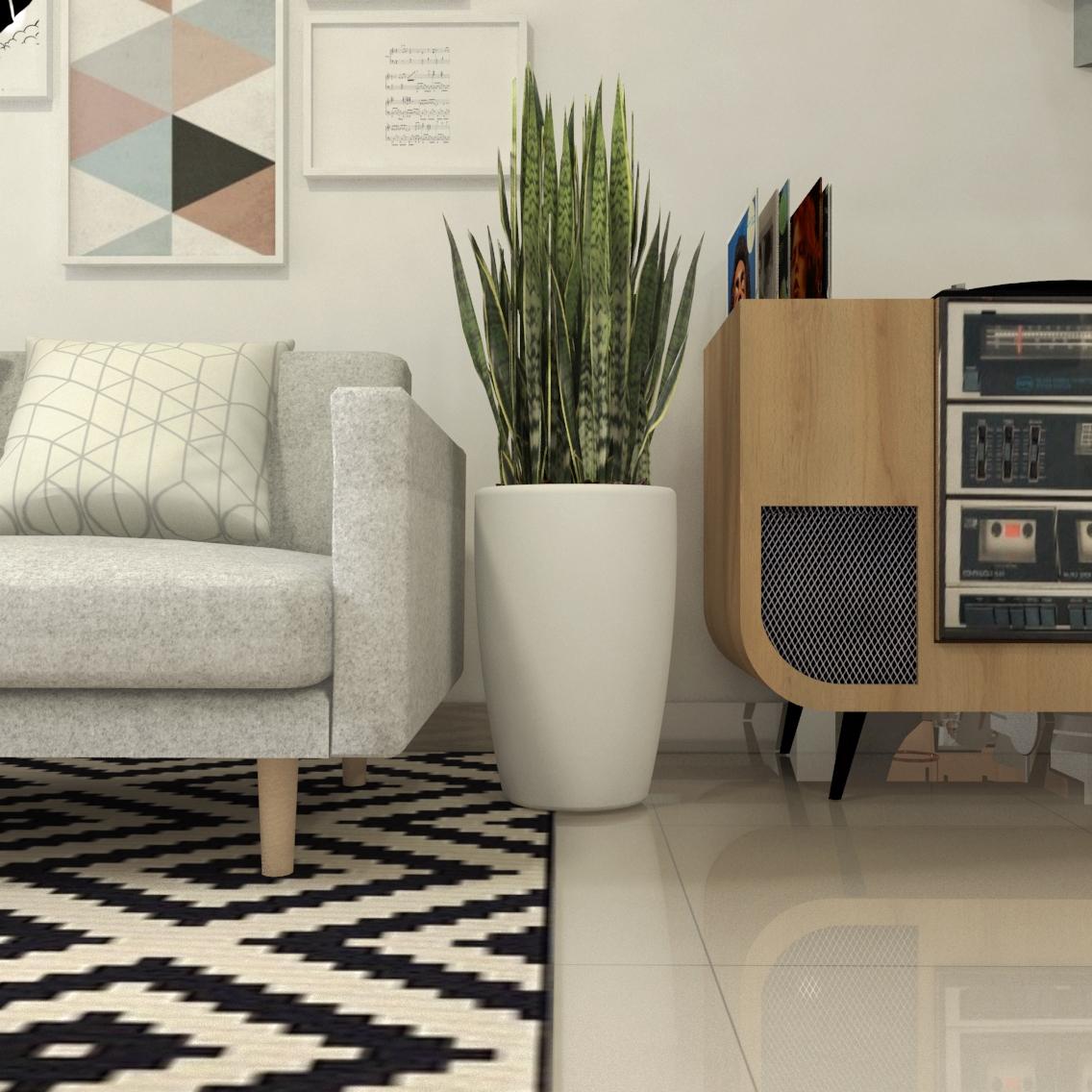 Sala de estar moderna - Projeto por Estúdio Murilo Zadulski Interiores - 02