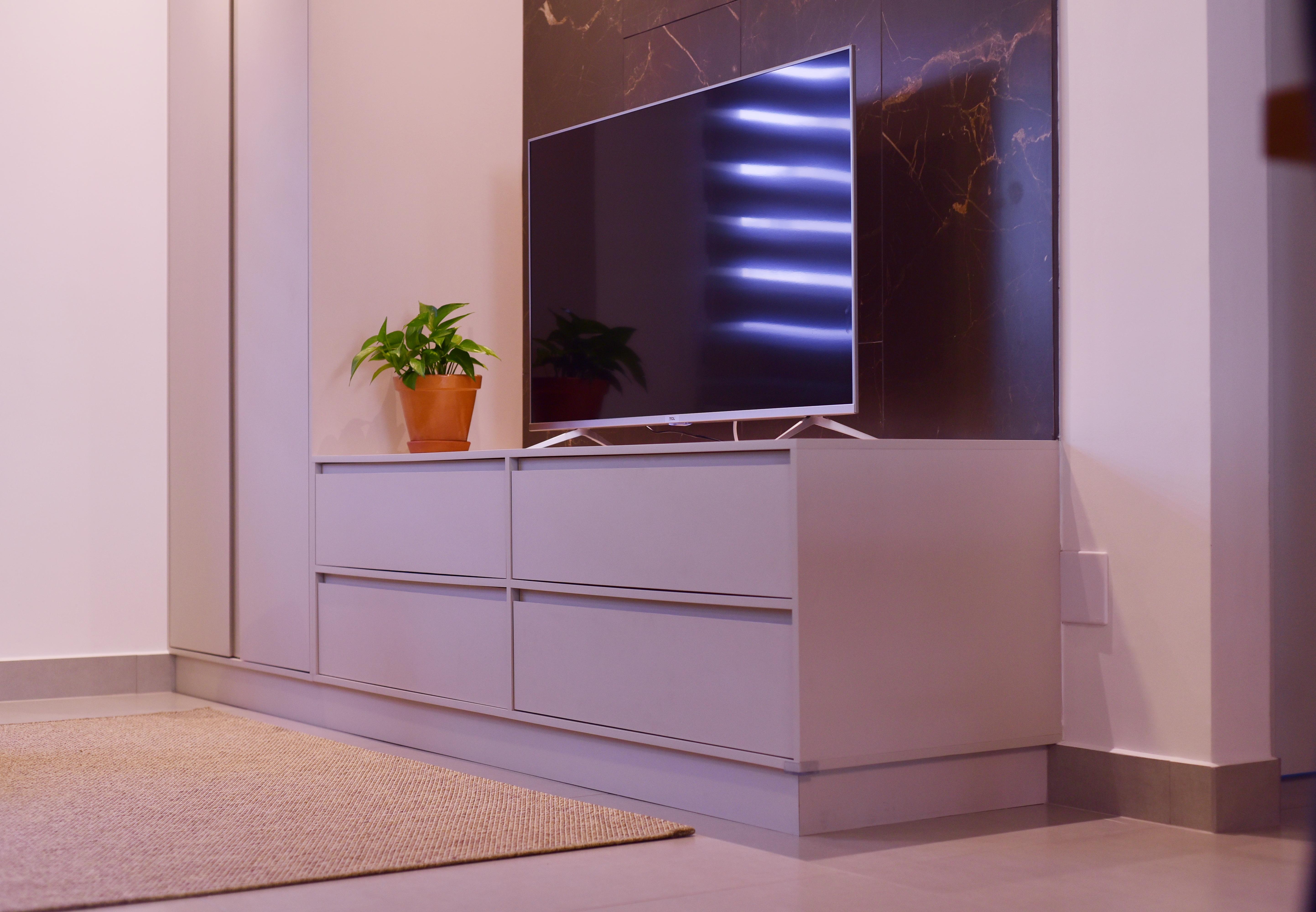 Projeto de design para reforma de apartamento moderno em Curitiba - Estudio Murilo Zadulski Interiores - Projeto sala moderna minimalista 02