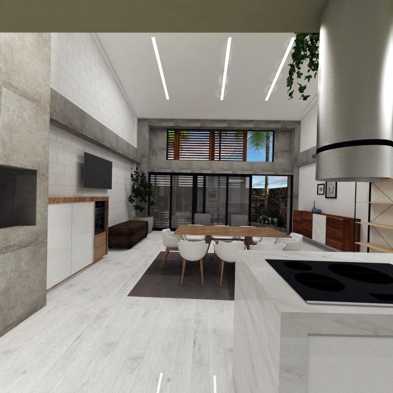 Projeto interiores casa jardim das americas - sala com pé direito duplo - moderna - estúdio murilo zadulski interiores 01 - Design e decoração de interiores em Curitiba